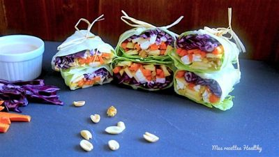 Wrap détox aux légumes et sauces aux cacahuètes