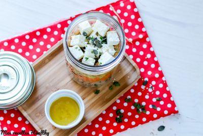 Salade composée au quinoa et fêta