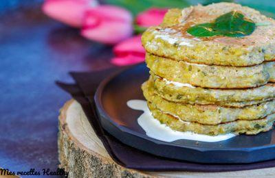 Pancake de poireau et avoine aux épices