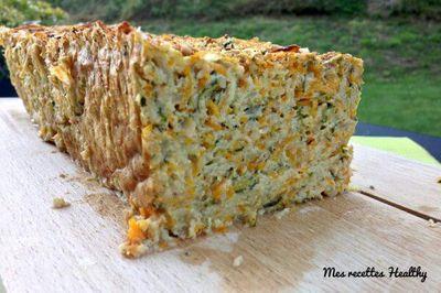 Pain de légumes estival courgette et carotte