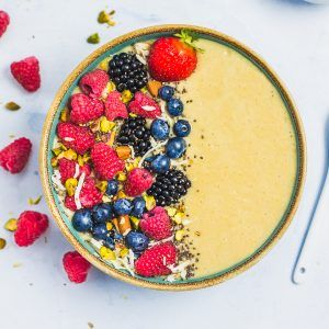 Smoothie bowl mangue ananas (sans lactose )