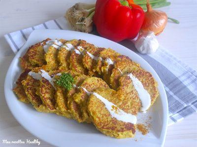 Galette de chou-fleur et quinoa aux épices