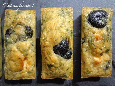 Minis cakes feta olives et menthe