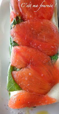 Pressé de tomates mozzarella
