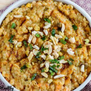Porridge salé façon dhal de lentille corail