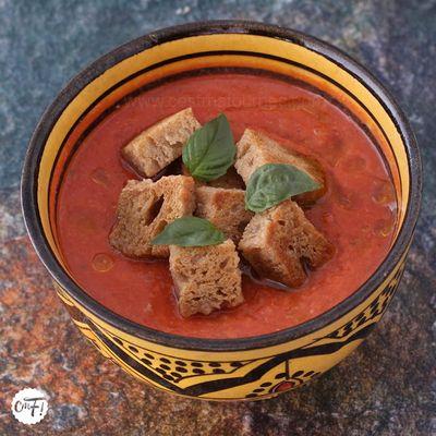 Gaspacho tomate pastèque de Yotam Ottolenghi