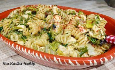 One pan pasta au poulet et légumes