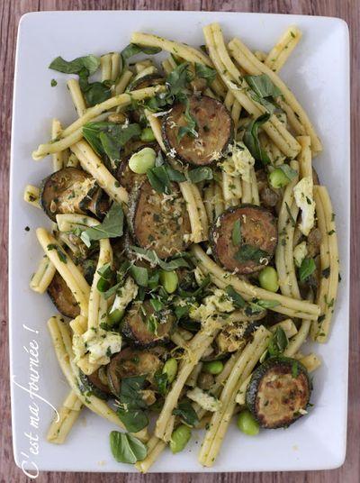 Salade de pâtes aux courgettes d'Ottolenghi