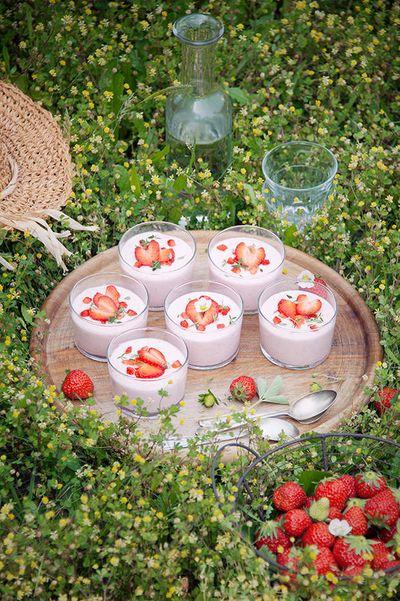 Mousse de fraise à la mascarpone