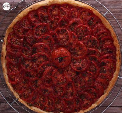 Tarte aux tomates et aux amandes de Yotam Ottolenghi