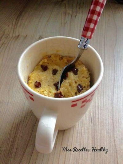 Mug cake au chocolat et banane
