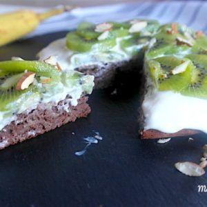 Gâteau moelleux banane et cacao