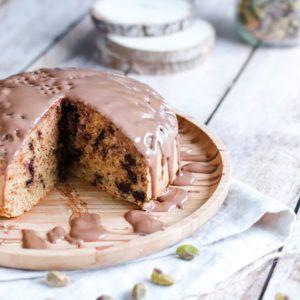 Gâteau chocolat pistache moelleux (sans beurre)
