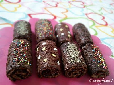 Petits roulés au chocolat (inspirés par Christophe Adam)
