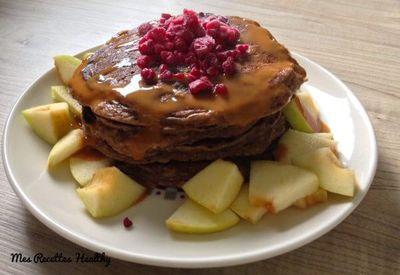 Pancakes aux pommes façon beignet