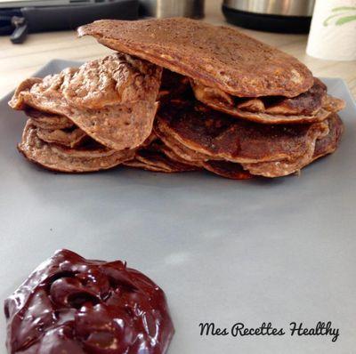 Pancake au cacao et graines de chia