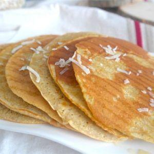 Pancakes rapide à l'avoine et farine de coco