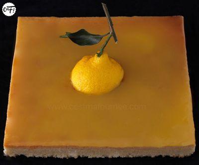 """Cake """"dans l'esprit d'une tarte au citron"""" de Christophe Michalak"""