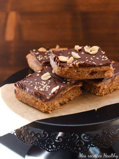 Shortbread millionnaire aux cacahuètes (vegan)
