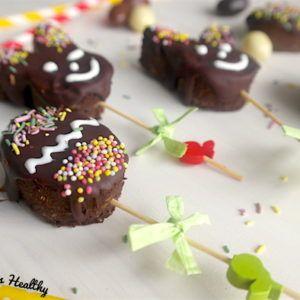 Sucette de brownie chocolat de Pâques (sans gluten)