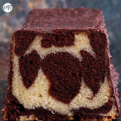 Le gâteau marbré chocolat-vanille de Yann Couvreur