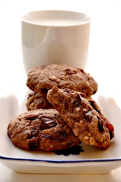 Cookies au chocolat et flocons d'avoines