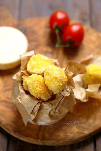 Croquettes de mozzarella frites
