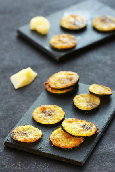 Chips ou rondelles de courgettes au parmesan