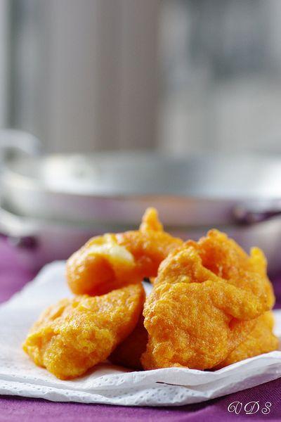 Bonbons frits de potiron à la scarmorza fumée