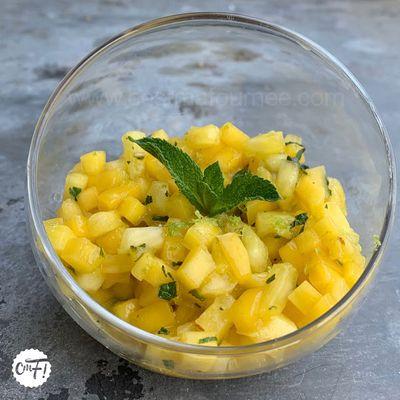 Tartare mangue ananas passion