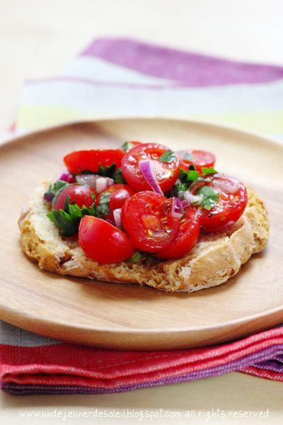 Freselle aux tomates marinées