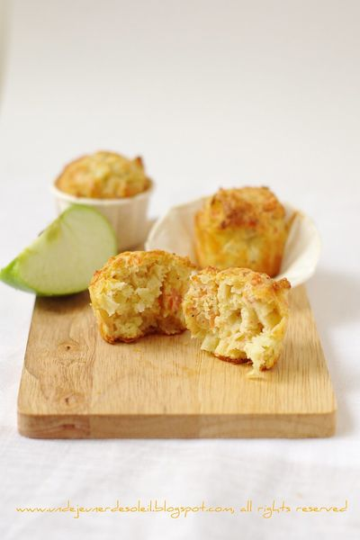 Muffins au saumon fumé, pomme verte et citron vert