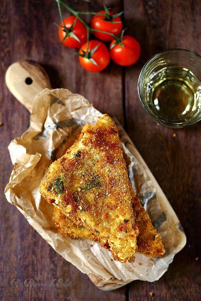 Mozzarella in carrozza, sandwich frits de mozzarella