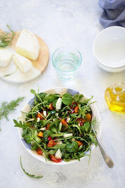 Salade de roquettes, fenouil et orange