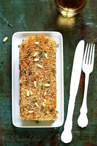 Gâteau ou cake de pommes terre et haricots verts