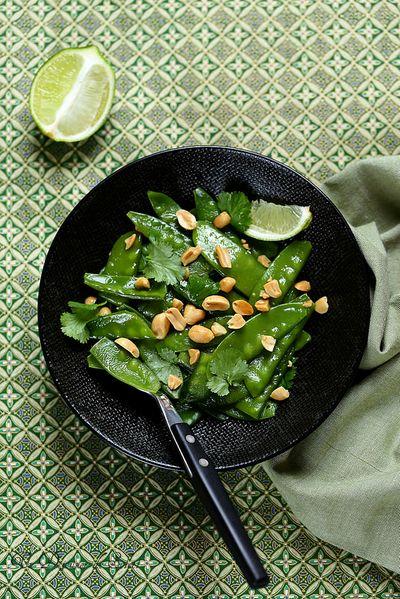 Salade légère de pois gourmands à la thaïlandaise