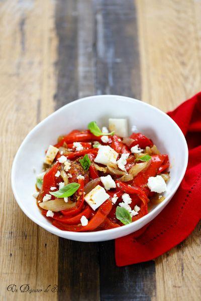 Salade de poivrons rôtis et feta