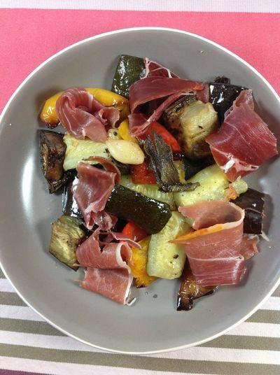 Salade tiède de légumes grillés