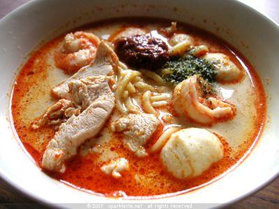 Laksa (soupe de Singapour)
