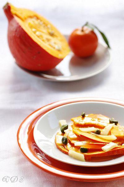 Salade de potimarron, Comté et clémentine
