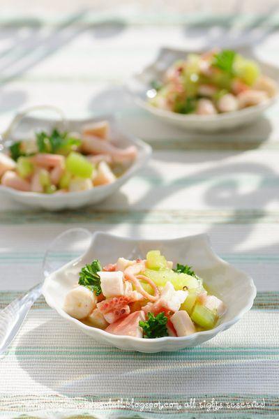 Salade de poulpe au céleri et citron