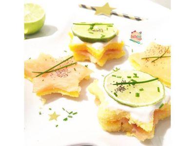 Etoiles de polenta et saumon