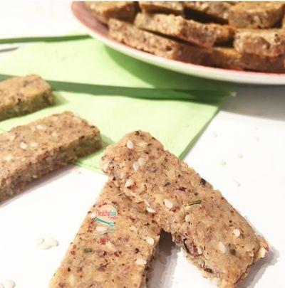 Biscuits apéritifs au sésame et herbes de Provence
