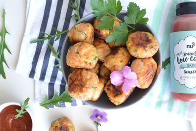 Boulettes de poulet, carottes et persil