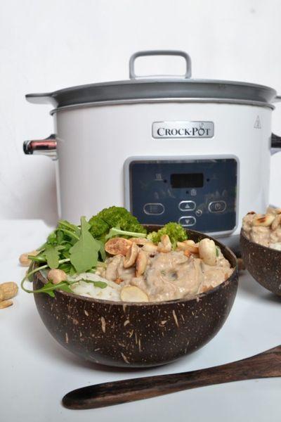 Poulet mijoté aux arachides (cuisson au crock-pot)