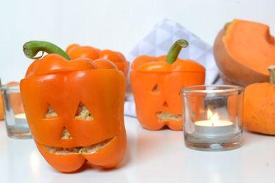 Poivrons farçis spécial halloween