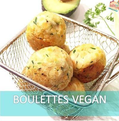 Boulettes de pois chiches, basilic et oignon (vegan)