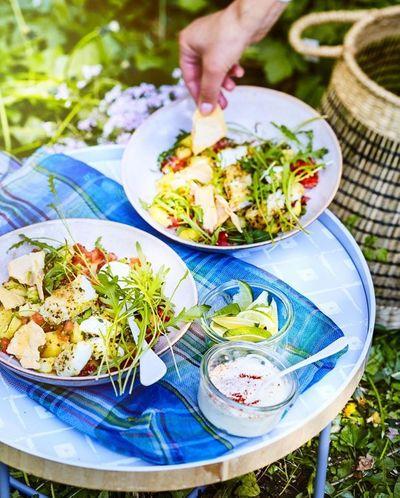 Salade espagnole cabillaud pomme de terre