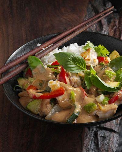 Aiguillettes de poulet au curry