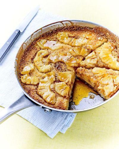 Gâteau à la poêle à l'ananas